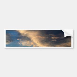 Glühende Wolken Autoaufkleber