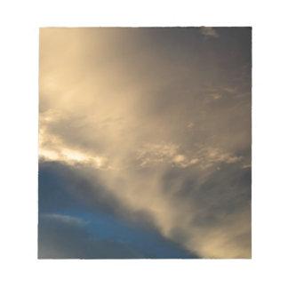 Glühende Wolken Notizblock