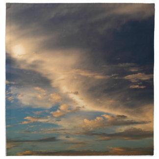 Glühende Wolken Stoffserviette