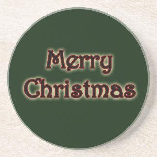 Glühender frohe Weihnacht-Untersetzer Getränkeuntersetzer