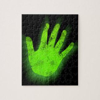 Glühender Handdruck Puzzle