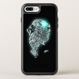 Glühender heftiger Löwe OtterBox Symmetry iPhone 7 Plus Hülle