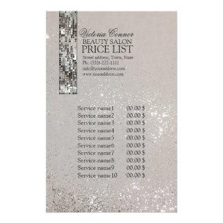 Glühender Metallart-Preisliste-Flyer 14 X 21,6 Cm Flyer