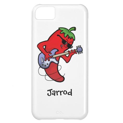 Glühender Paprika-Rocker Hüllen Für iPhone 5C