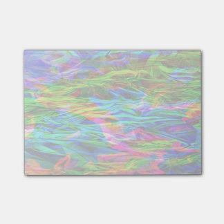 Glühender Regenbogen abstrakt Post-it Klebezettel