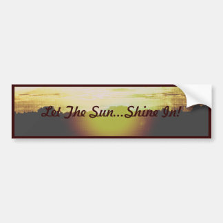 Glühender Sonnenuntergang ließ den Sun… Shine Autoaufkleber