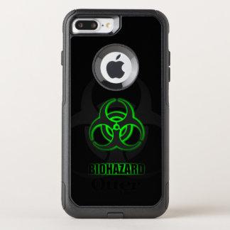 Glühendes grünes Biogefährdung-Symbol