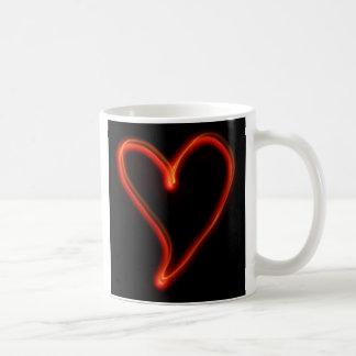 Glühendes Herz Kaffeetasse