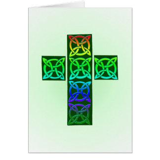 Glühendes keltisches Kreuz Karte