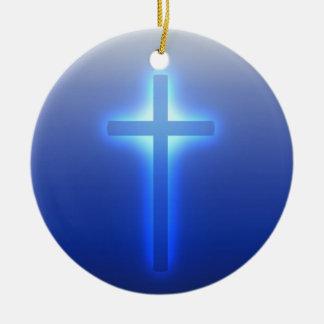 Glühendes Kreuz Keramik Ornament
