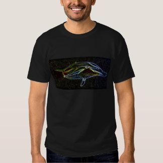 Glühendes Neondelphint-shirt Hemden