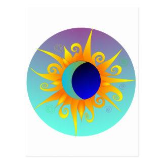Glühendes Sunmoon Postkarte