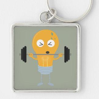 Glühlampe der Fitness mit Gewicht Schlüsselanhänger