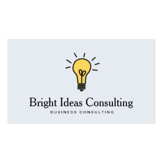 Glühlampe-Logo-Geschäfts-Marketings-Beratung Visitenkarten