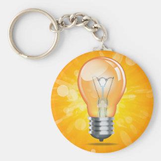 Glühlampebirne Schlüsselanhänger