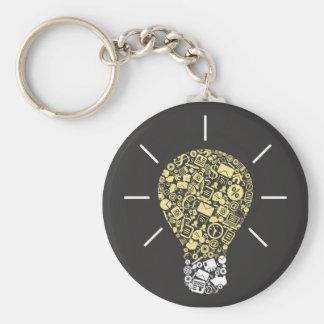 Glühlampen-Idee Keychain Schlüsselanhänger