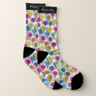 Glühlampen-Muster-Namesocken Socken