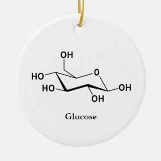 Glukose-Zuckermolekül-Chemie-Wissenschaft cool Keramik Ornament