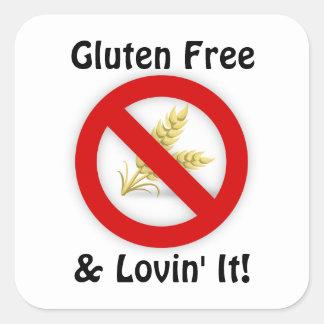 Gluten frei u. Lovin es Aufkleber