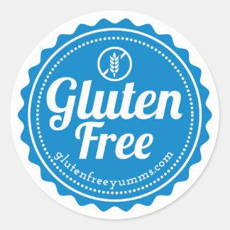 Gluten-Freie Aufkleber/Gluten geben mit Ikone - Runder Aufkleber