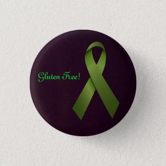 Gluten-freies grünes Band Runder Button 3,2 Cm