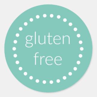 Gluten geben Aufkleber frei