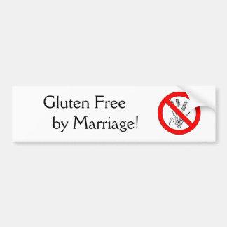 Gluten geben durch Heirat frei! Autoaufkleber