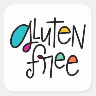 Gluten geben frei quadratischer aufkleber
