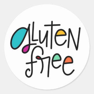 Gluten geben frei runder aufkleber