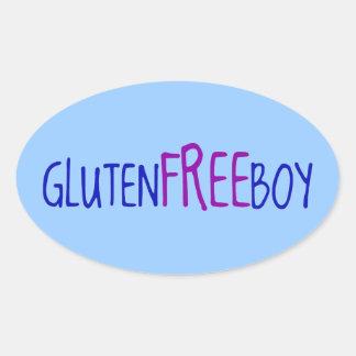 Gluten geben Jungen frei Ovaler Aufkleber