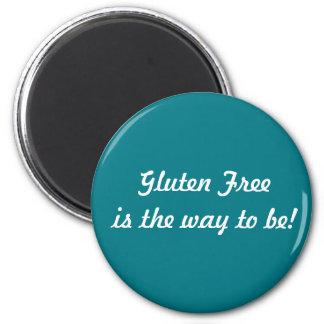 Gluten geben Magneten frei Runder Magnet 5,7 Cm