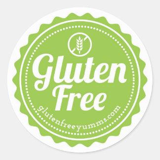 Gluten geben mit Ikonen-Aufklebern - Grün frei Runder Aufkleber