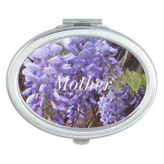 Glyzinie-Blüte Taschenspiegel
