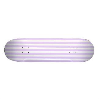 Glyzinie-lila Lavendel-Orchidee u. weißer Streifen 20,6 Cm Skateboard Deck