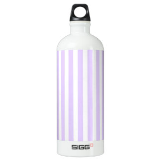 Glyzinie-lila Lavendel-Orchidee u. weißer Streifen Aluminiumwasserflasche