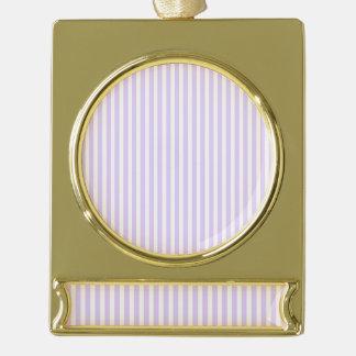 Glyzinie-lila Lavendel-Orchidee u. weißer Streifen Banner-Ornament Gold
