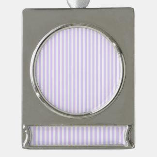 Glyzinie-lila Lavendel-Orchidee u. weißer Streifen Banner-Ornament Silber