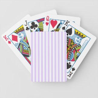 Glyzinie-lila Lavendel-Orchidee u. weißer Streifen Bicycle Spielkarten
