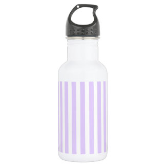 Glyzinie-lila Lavendel-Orchidee u. weißer Streifen Edelstahlflasche
