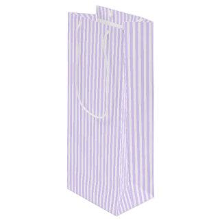 Glyzinie-lila Lavendel-Orchidee u. weißer Streifen Geschenktüte Für Weinflaschen