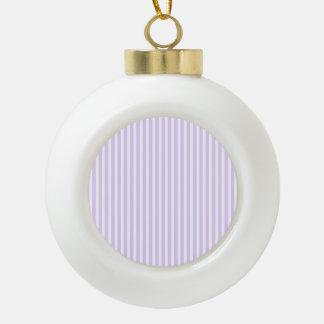 Glyzinie-lila Lavendel-Orchidee u. weißer Streifen Keramik Kugel-Ornament