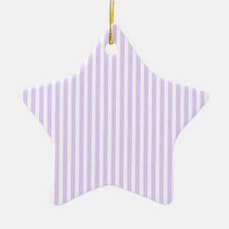 Glyzinie-lila Lavendel-Orchidee u. weißer Streifen Keramik Ornament