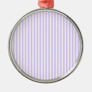 Glyzinie-lila Lavendel-Orchidee u. weißer Streifen Silbernes Ornament