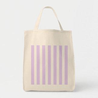 Glyzinie-lila Lavendel-Orchidee u. weißer Streifen Tragetasche