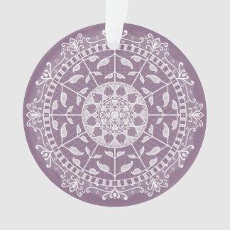 Glyzinie-Mandala Ornament