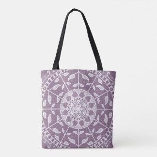 Glyzinie-Mandala Tasche