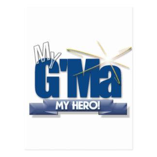 G'Ma mein Held! Große Geschenke für großartige Postkarte