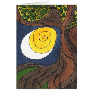 Gnarly Baum und Sun/Mond, Notecard Karte