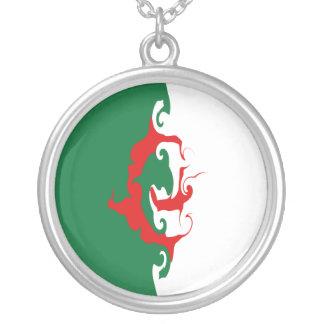 Gnarly Flagge Algeriens Halskette Mit Rundem Anhänger