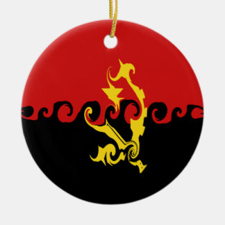 Gnarly Flagge Angolas Weihnachtsornament